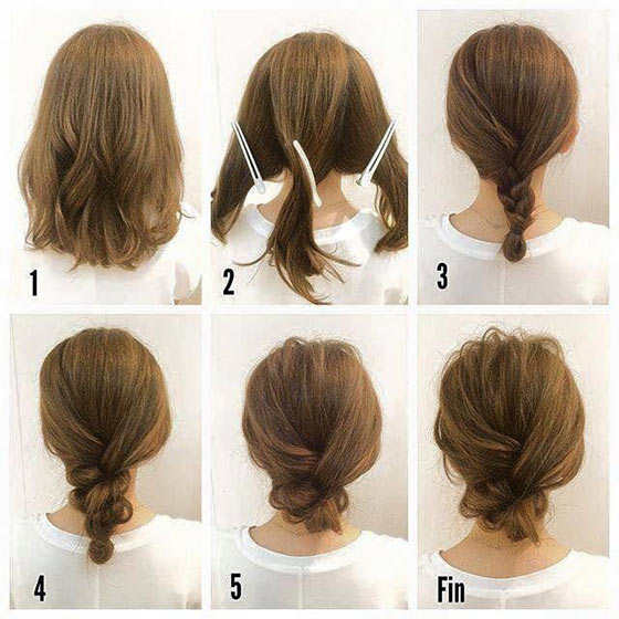 40 quick and easy updos for medium hair 40 stylish updos for medium hair38 pinit solutioingenieria Image collections