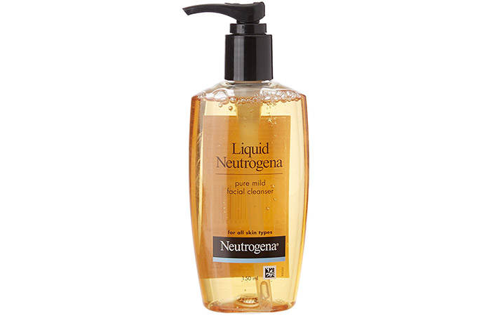 5. Liquid Neutrogena Pure Mild Facial Cleanser