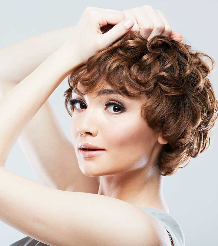Short Curly Hair With Bangs And Layers 106