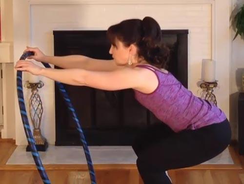 Hula Hoop Exercises - Hula Hoop Squat