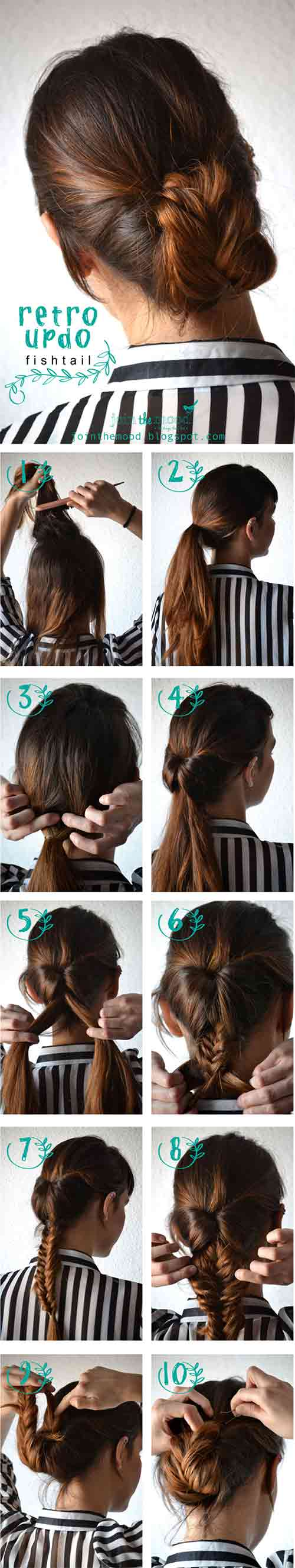 6. Retro Fishtail Updo