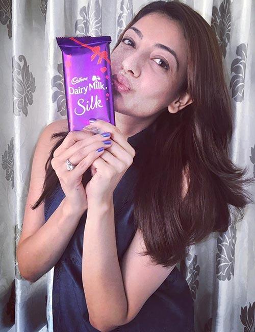 Kajal Aggarwal's Lovely Chocolate