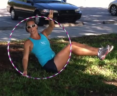 Hula Hoop Exercises - Hula Hoop Russian Twist