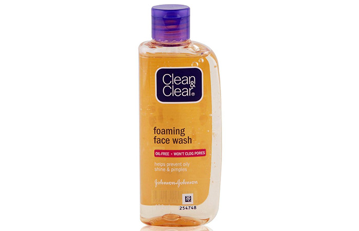 8. Clean And Clear Foaming Face Wash