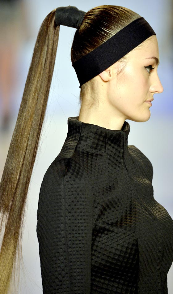 Long Straight High Ponytail Hairstyle