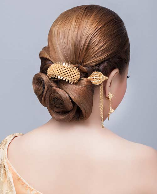 A bejeweled clip is a great hair accessory