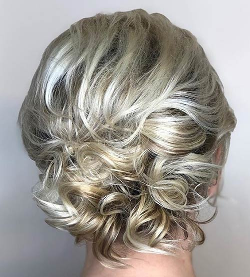 Artistic Curly Updo