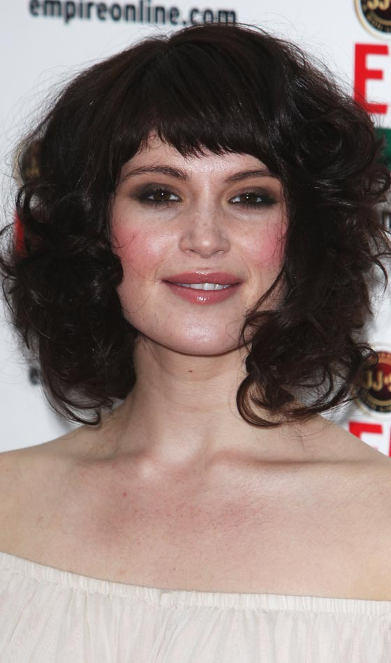 Curly Bob Hairstyles - Asymmetrical Layers, Side Swept Bang and Messy Curls