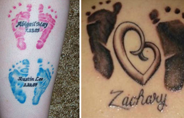 Baby Footprint Tattoo Designs
