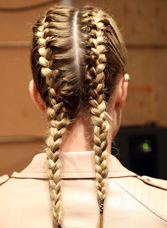 Blonde-Twin-Braid