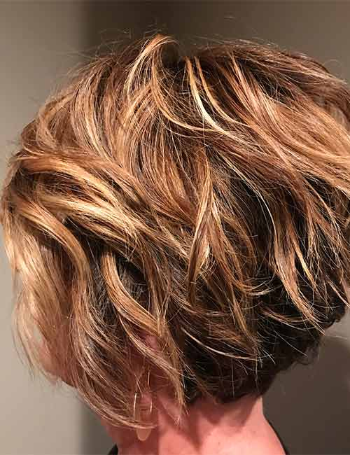 Brown And Blonde Highlights Bob