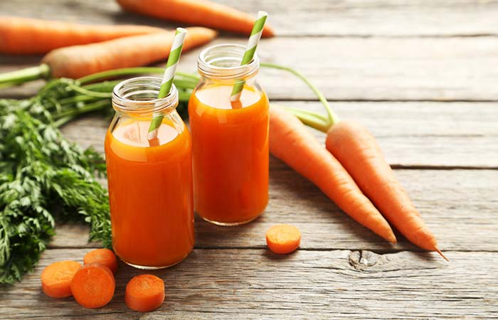 Potassium Rich Foods - Carrot Juice