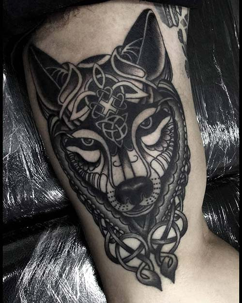 Celtic Wolf Tattoo Design