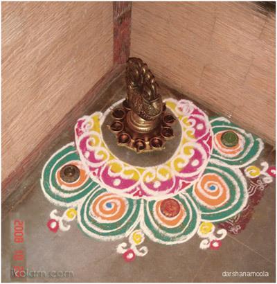 Corner Rangoli Designs 1