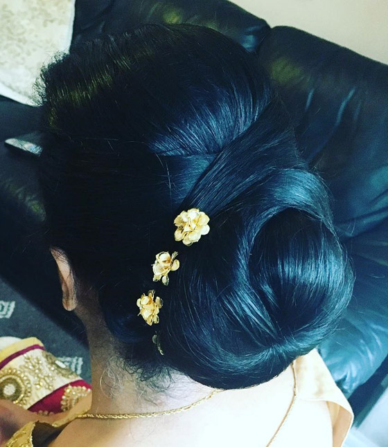 Criss-Cross-Flower-Accented-Bun