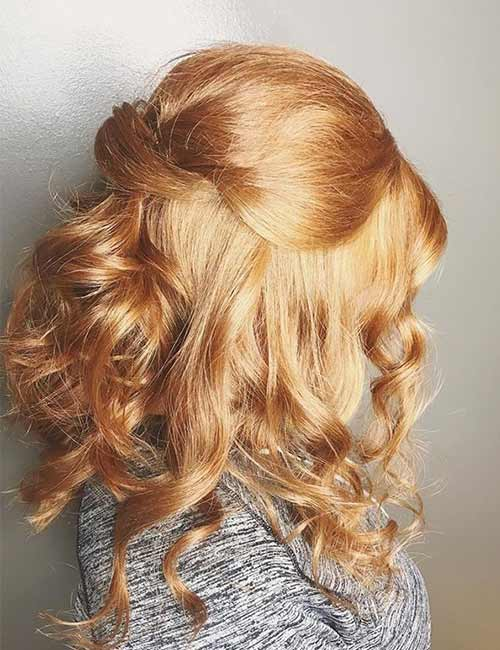 Crossed Half Updo