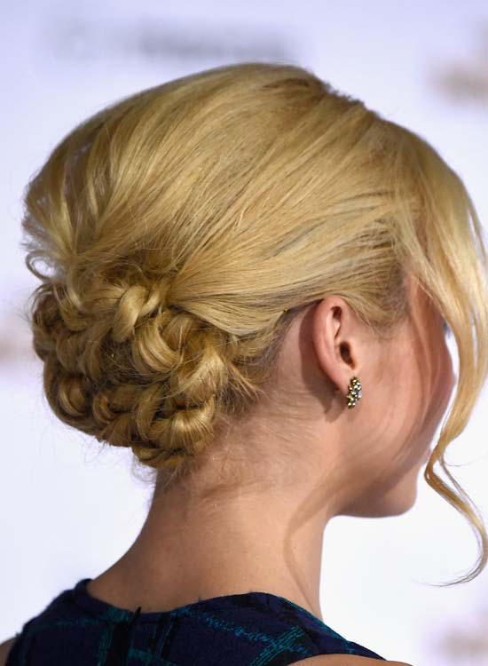 Distinct-Twisted-Bun-with-Puffy-Crown-and-Wavy-Bang