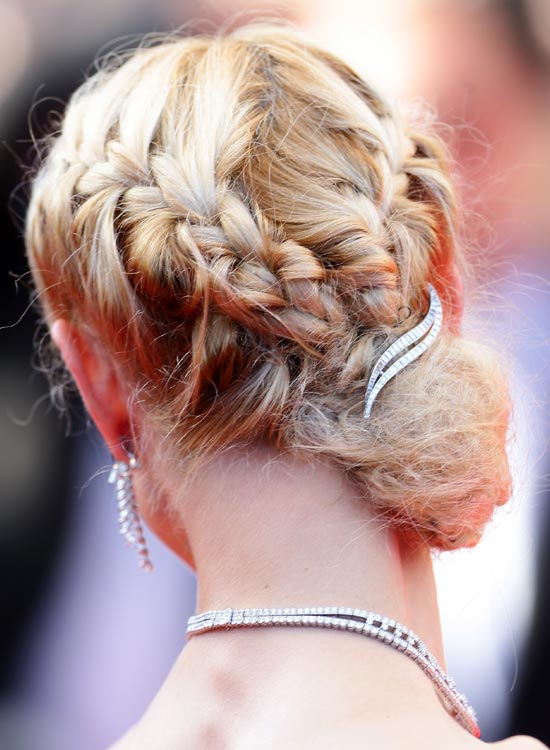 Double-Braided-Low-Side-Bun-with-Brooch