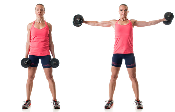 Dumbbell Side Raise - Biceps Exercises