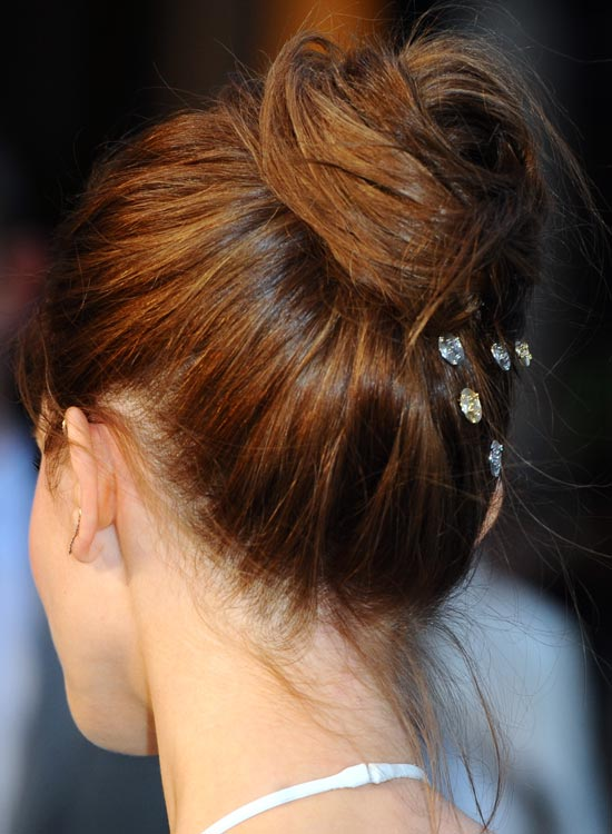 Elegant-Twisted-Bun-with-Crystal-Clips