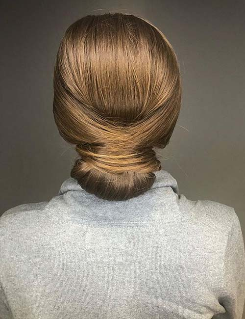French Neat Bun