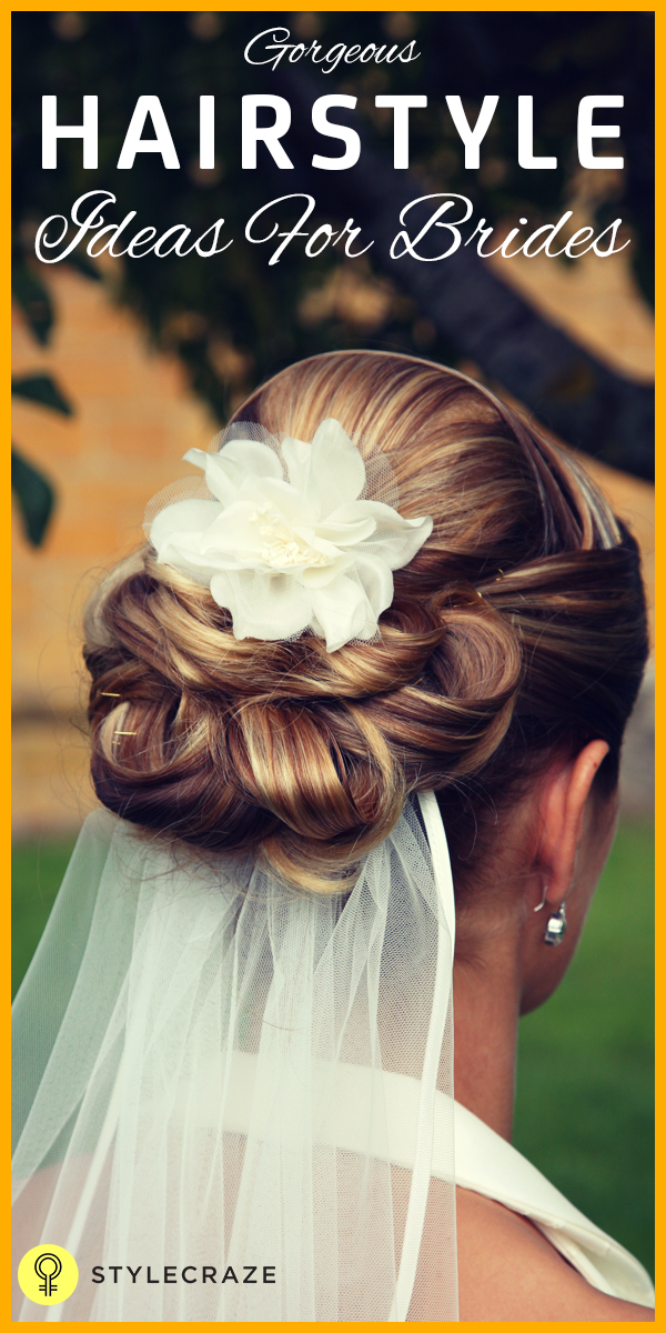 Gorgeous hairstyle ideas for brides