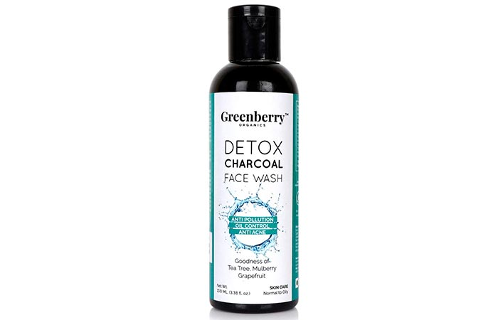 Greenberry Organics Detox Charcoal Face Wash - Face Washes For Oily Skin