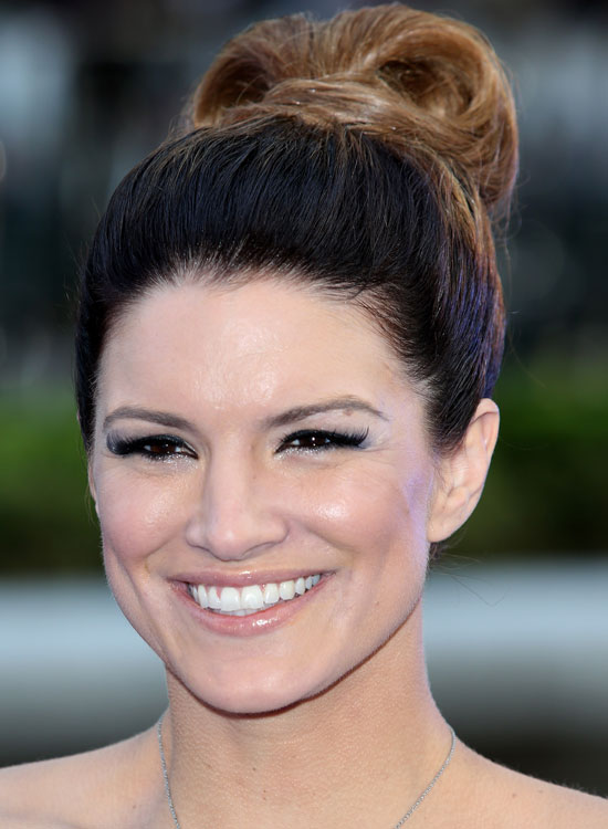 Bun Hairstyles For Long Hair - High-Folded-Loop-Bun-Wrapped-with-End-Part