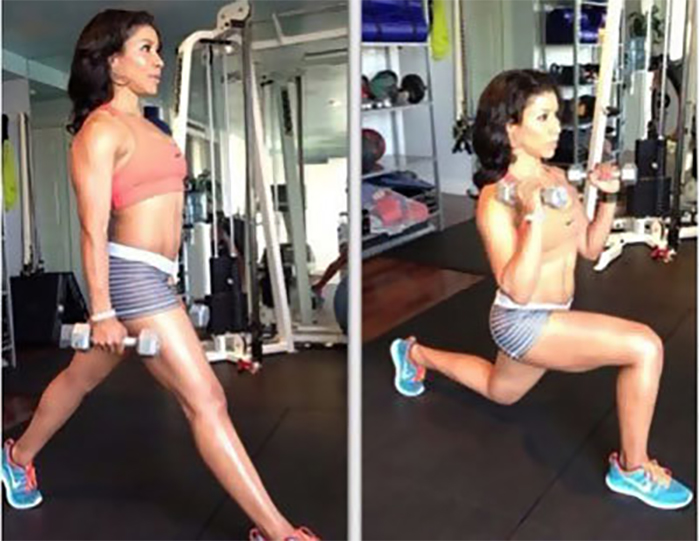 Lose Fat From Arms - Biceps Curl With Alternating Lunge