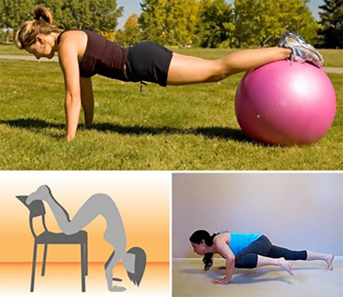 Lose Fat From Arms - Push-Up On A Ball