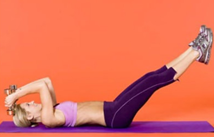 Lose Fat From Arms - Pullovers With Dumbbells