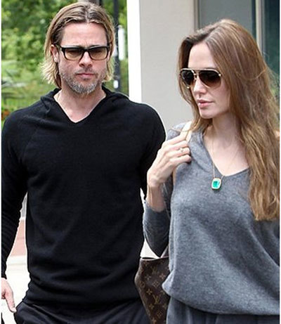 Jolie with husband