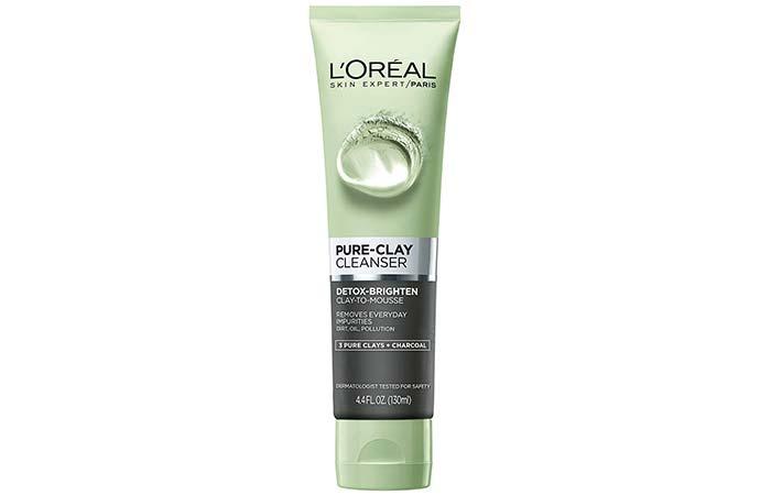 LOreal Pure Clay Cleanser Детоксикация-Осветление