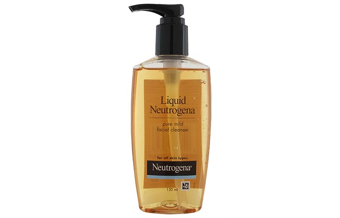 Liquid Neutrogena Pure Mild Facial Cleanser