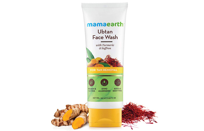 Mamaearth Ubtan Face Wash with Turmeric & Saffron