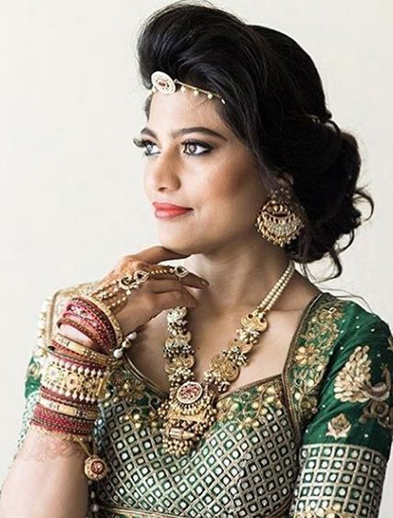 Indian Bridal Hairstyles Perfect For Your Wedding - Side bun hairstyle indian