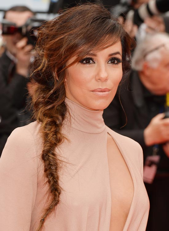Messy-Tight-Fishtail-Braid-with-Razored-Side-Bang