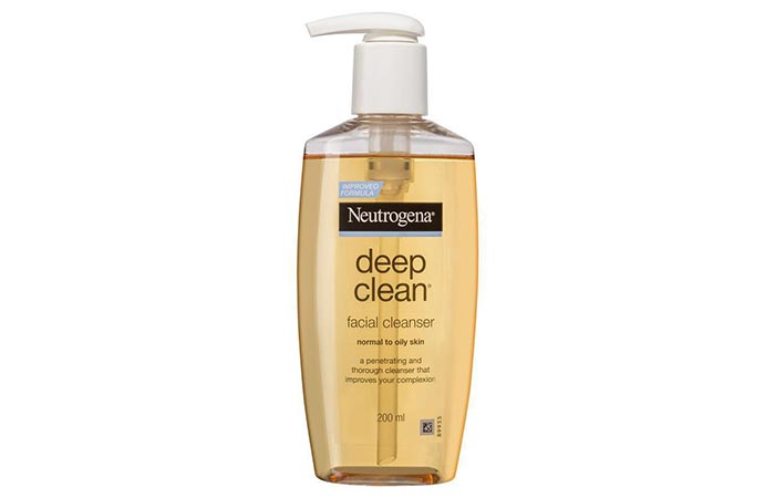 Neutrogena Deep Clean Facial Cleanser - Face Washes For Oily Skin