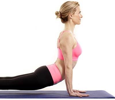Practicing yoga