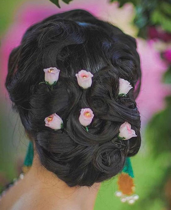 Simple Juda Hairstyle For Wedding: 40 Indian Bridal Hairstyles Perfect For Your Wedding