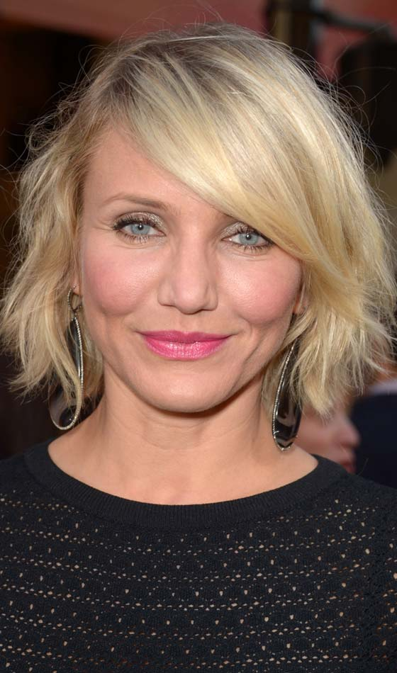 Curly Bob Hairstyles - Short Cropped Back With Front Side Parted Curly Bangs