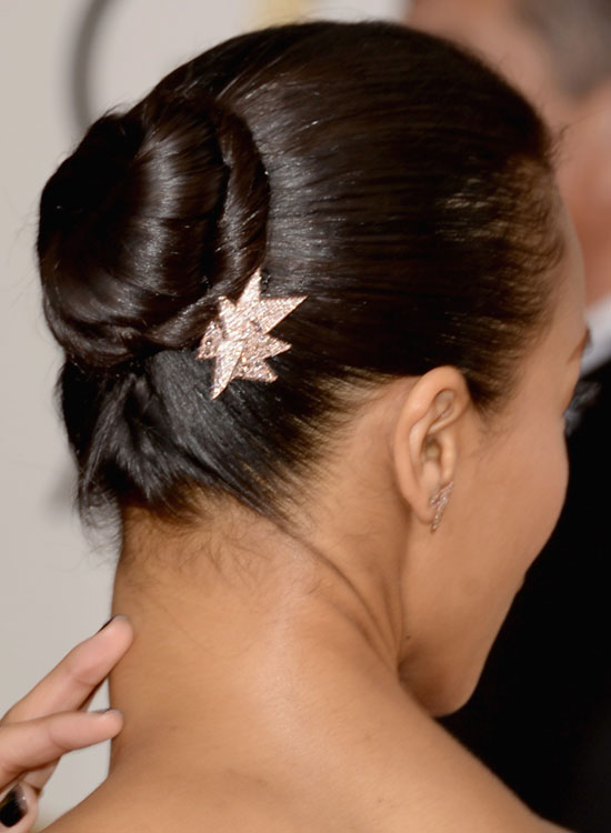 Bun Hairstyles For Long Hair - Small-Semi-High-Bun-with-Twisted-Wrap