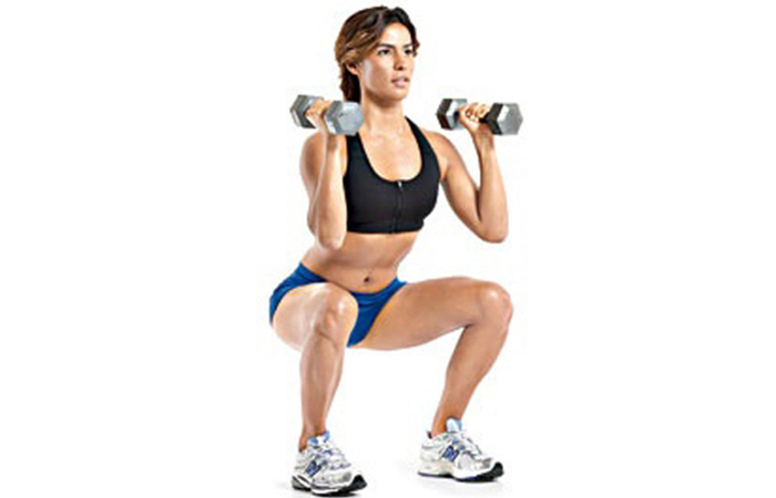 Squat Concentration Curls - Biceps Exercises