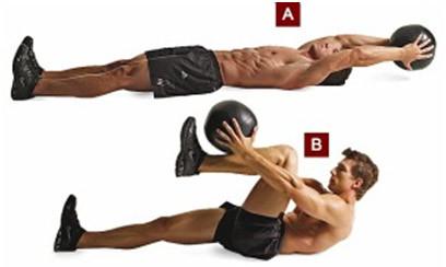 Medicine Ball Exercises - Suitcase Crunch