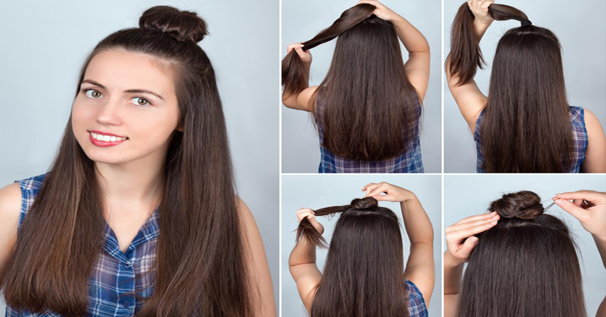 The Half Updo A Step By Tutorial