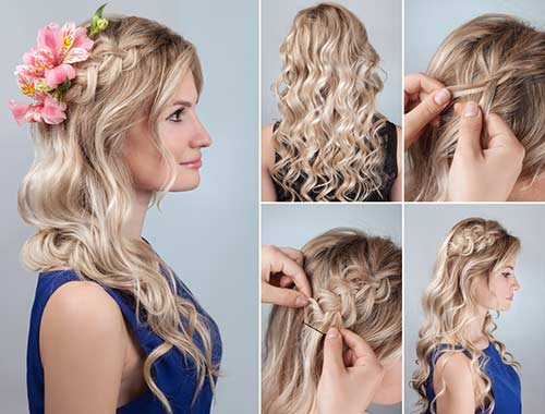 The Side Accent Braid With Curls