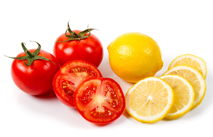 Tomato And Lemon Face Mask