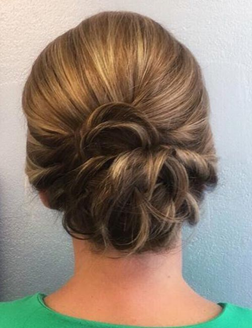 Twisted And Curled Updo