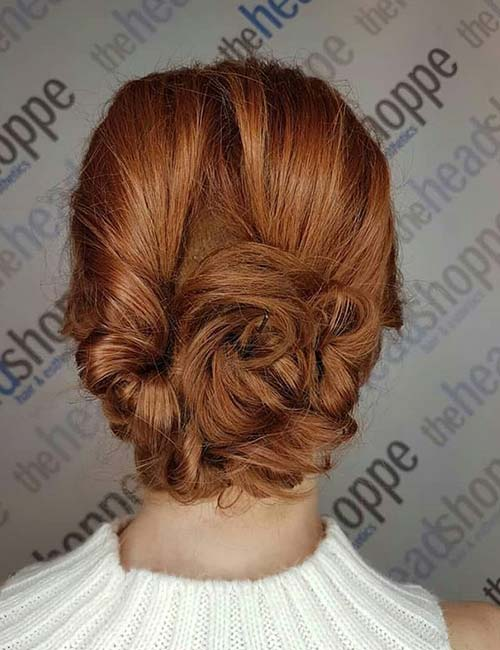 Twisted And Pinned Updo