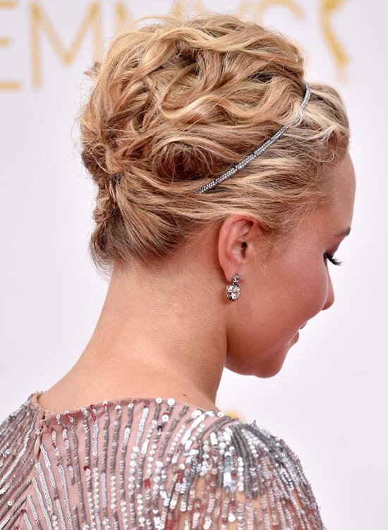 Twisted And Textured Wavy Updo With Headband